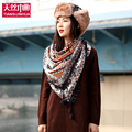 2016 New Fashion Women Big Square Tassel Cotton Scarf Printed Women Brand Wraps Floral women Scarf women winter scarves sjaal
