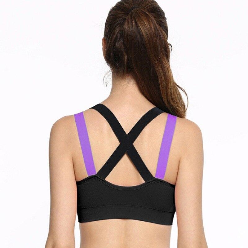 2017 Womans pro padded compression sports bra Sportswear Spaghetti Strap Fast dry elastic running tank top bra