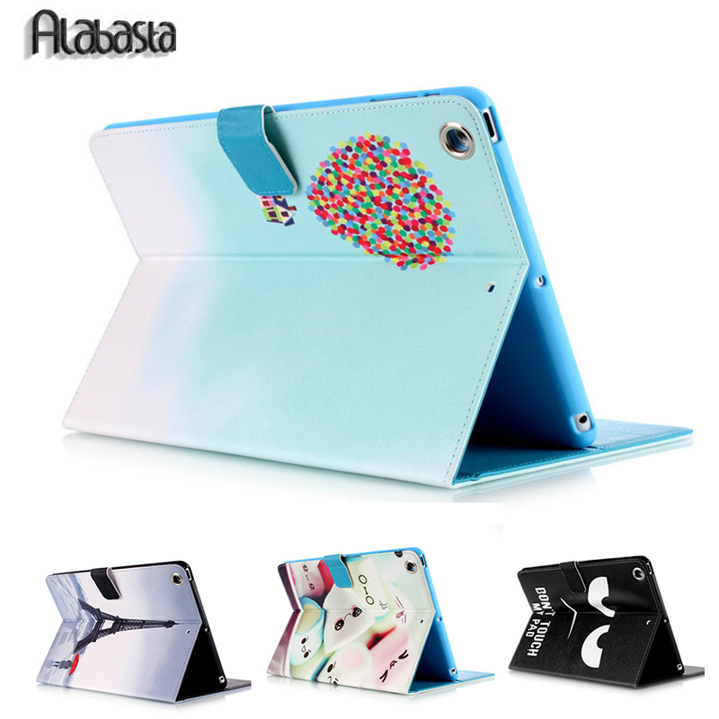 Fashion Towel Flower Series Style Printed Stand Flip Pu Leather case for iPad 2 3 4  iPad Mini 1 2 3 4 Air 1 2 With Card Slots foldable pu leather pad cover with flower girl driving style inlaid diamond support stand for ipad mini 3