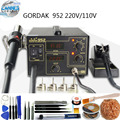 Gordak Alta Qualidade 220 V/110 V Gordak 952 2 em 1 Desoldering Estação de Ar Quente Arma Ferro De Solda