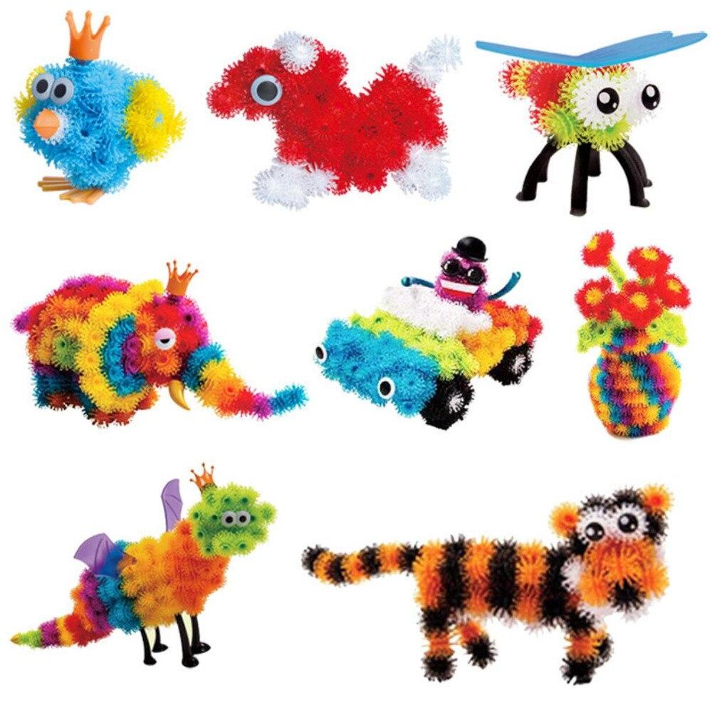 Bola mágica puffer 400 peças 1000 acessórios construir animais diy montagem ponto melhor bloco de brinquedos conjuntos para crianças