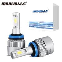 H7 H4 H11 H13 9005 9006 A Pair COB LED Auto Car Headlight Bulbs Front Fog