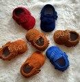 50 pairs al por mayor Soft Moccs Zapatos para niñas niños Suede fringe Cuero Auténtico Mocasines Niño Recién Nacido primer caminante del envío de DHL