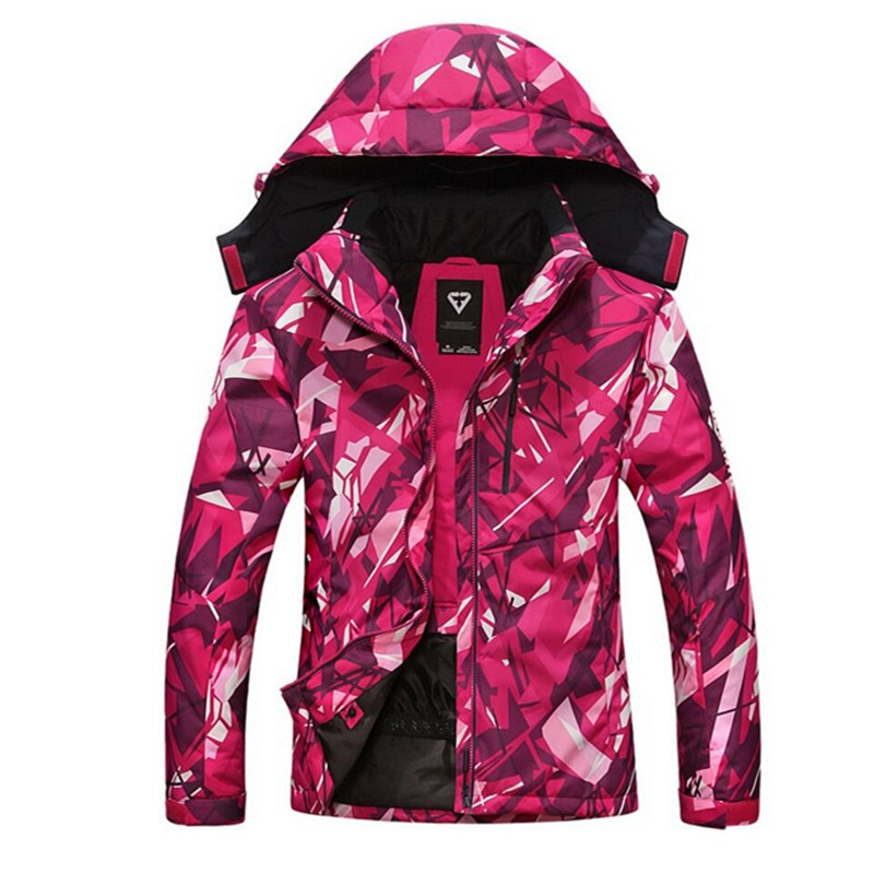 Free Shipping-New Women Outdoor Sport Winter Warm Thick Waterproof Windproof Camouflage Mountaining Hiking Skiing Jacket 7012 free shipping new hot sale winter lover couple outdoor sport 3in1 twinset water windproof skiing mountaineering jackets 160d321d