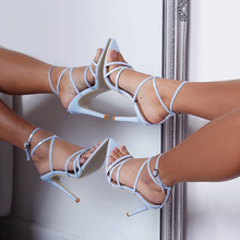 Summer Yellow Red Black Patent Leather Cross Strappy Sandals Pointed Toe Stiletto High Heels Cage Shoes Strap Heels Party gladiator cage celebrity high heels pointed toe black brand designer shoes women block strappy tie up cross strap pumps bdsm
