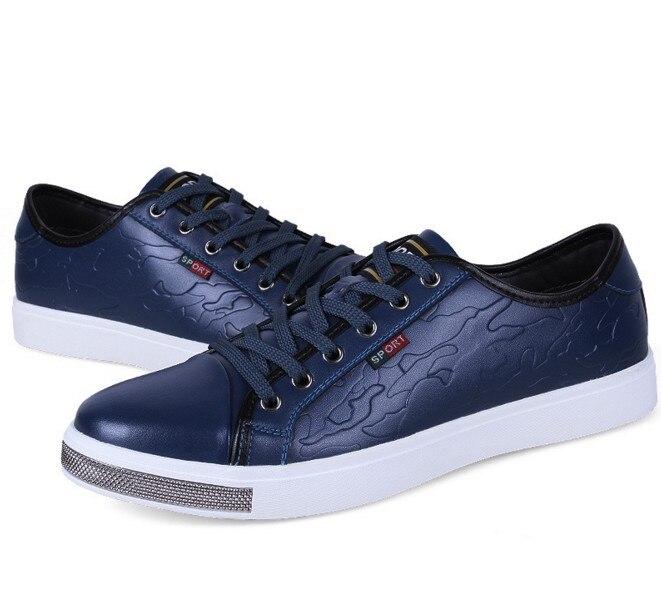 Sapatos Novo up Condução Para Cyabmoz Zapatos Estilo Lace Confortáveis Casuais Couro blue Hombre Divisão Britânico Red De Flats black Homens 2017 6BBvAIq