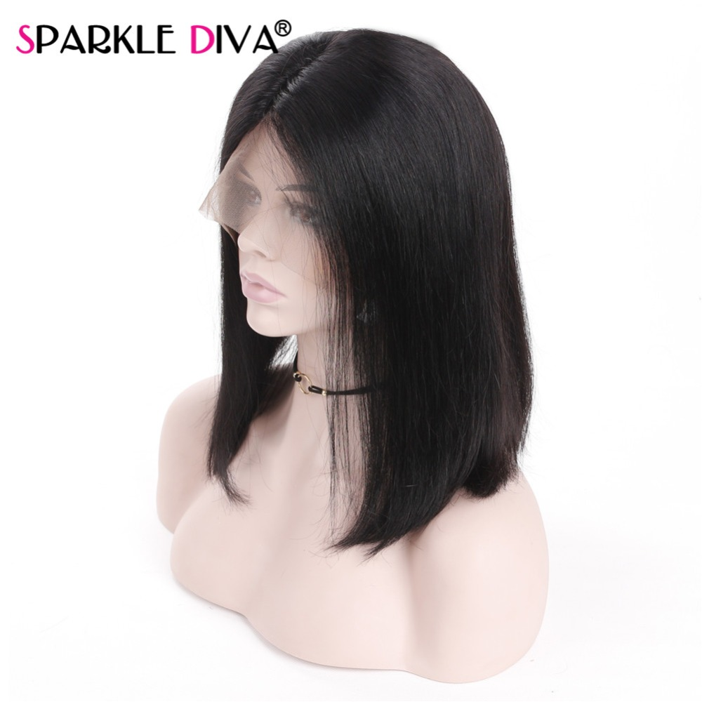 Short Fashion BOB Lace Front Human Hair Wigs Natural Black #1 #4 Brazilian Remy Human Hair Wigs Pre Plucked for Women Free Gift