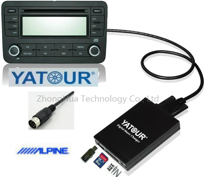 Yatour Digital Music Car Audio USB Adapter MP3 AUX Bluetooth for Alpine M-bus and Honda/Acura 92-97 CDC interface CD Changer