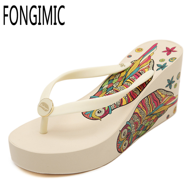 d7798a5ea Summer women Fashion New Style Hot Selling casual slipper Wedges comfortable  Soft sandals beach All-match flip flops Shoes