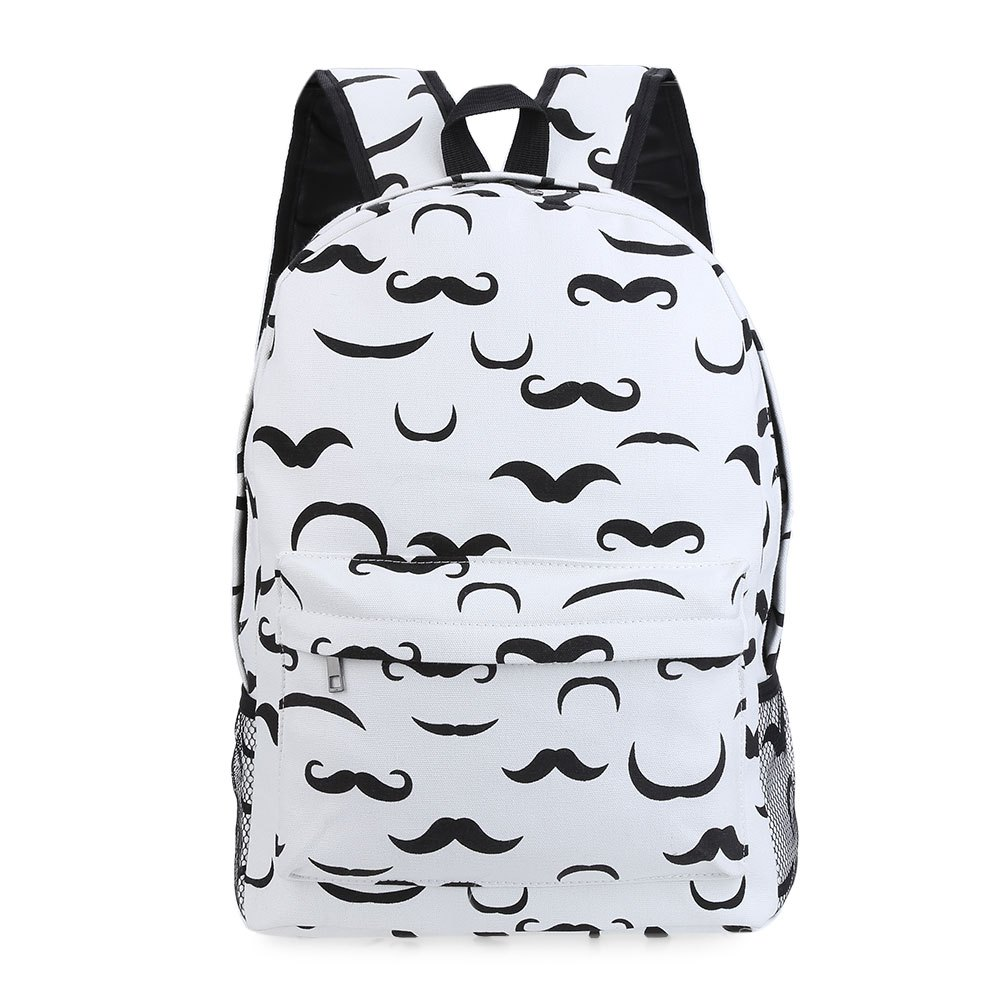 Guapabien 2017 Korean Banana Print Women Backpacks Girl Mustache Traveling Pratical School Bags Fashion Rucksack Canvas