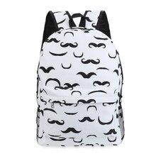 Guapabien 2017 в Корейском стиле с принтом банана Женщины Рюкзаки Девушка Усы Путешествия практичное школьные сумки моды рюкзак, рюкзак холст