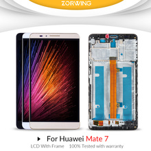 100% Test For Huawei Mate 7 LCD Dispaly + Touch Screen Digitizer Assembly For HUAWEI Mate 7 LCD With Frame MTK-L09 MTK L09 все цены