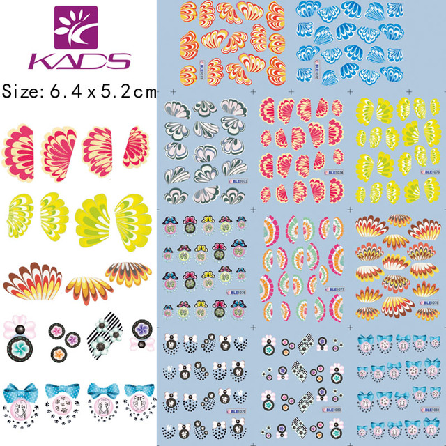 2014 Arrival 20 Sheet/lot Wing Nail Art Water Decals Transfer Sticker for nail art nail accessories+individually packaging