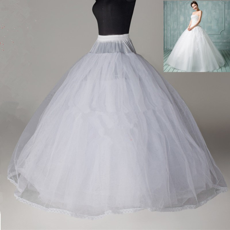 Ball Gown Style 8 Layer Tulle No Hoop White Petticoat
