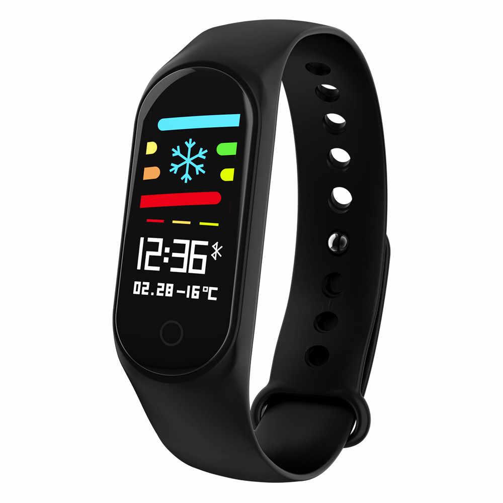 עמיד למים חכם שעון כושר צמיד קצב לב צג לחץ דם להקת פדומטר Bluetooth עבור IOS אנדרואיד טלפון