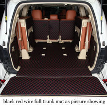цена на Lsrtw2017 Leather Car Trunk Mat Cargo Liner for Toyota Land Cruiser 2009 2010 2011 2012 2013 2014 2015 2016 2017 2018 2019 Lc200