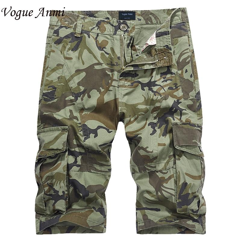 Vogue Anmi 2018 Shorts Man Summer Brand Fashion Mens Casual Bermuda Camouflage Short Pants Men Homme Printing Loose Cargo Short