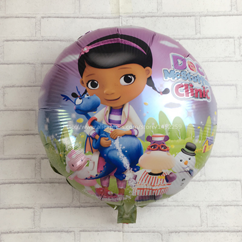 XXPWJ Free Shipping 5pcs / lot McStuffins Doctor Helium Balloon Kids Birthday Party DecorationToys Children Mylar Balloons I-108