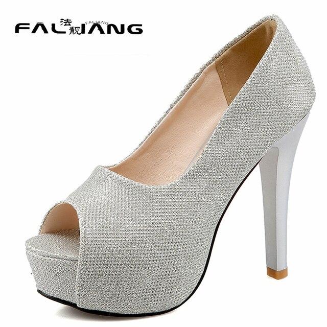 68703a7ddc1b New arrival Classics Big Size 11 12 13 14 women shoes woman Hand sewn ladies  womens Summer Peep Toe high heel sandals wholesale
