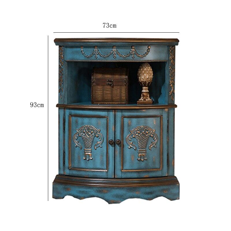 Living Room Furniture For Corner Cabinet: American Village Corner Cabinet European Type Sitting Room