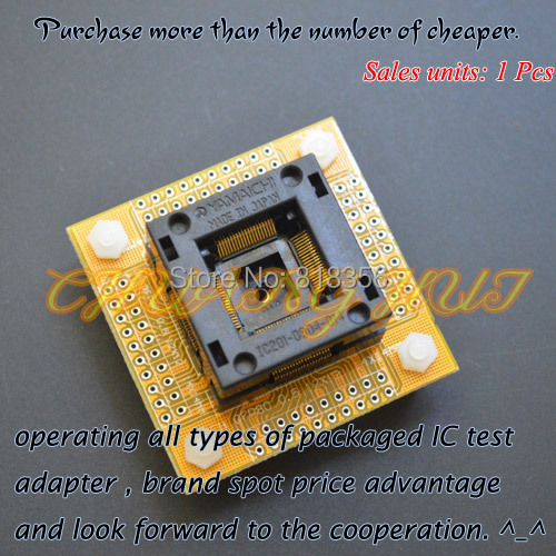 TEST IC201-0804-014 test socket QFP80 LQFP80 TQFP80 ic socket (With PCB board) Pitch=0.5mm Size=12x12/14x14mm tms320f28335 tms320f28335ptpq lqfp 176