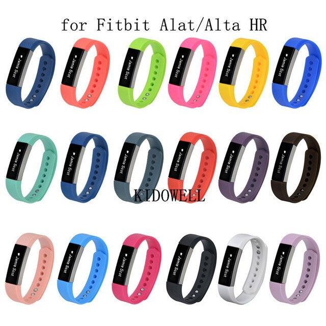 מכירה לוהטת! צבעוני סיליקון להקת יד תחליף S/L עבור FitBit Alta/Alta HR רצועות צמיד אביזרי החלפה