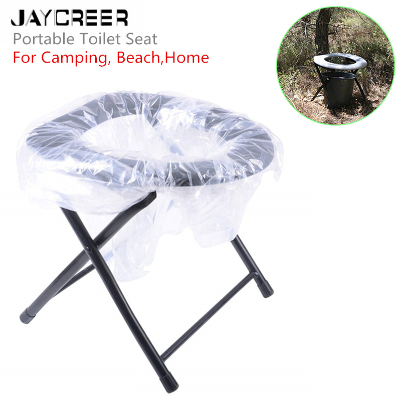 Camping Portable Toilet Comfort Chair Toilets Portable Adult Chair Elderly Beach Backpacking Foldable Potty Camp Toilet Seat New