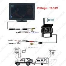 Sans fil 5 «Stand-up LCD Moniteur + Sans Fil IR Vision Nocturne Caméra de Recul pour Bus Camion Arrière vue De Sauvegarde # J-J3860