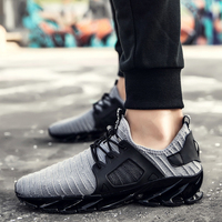 2017 Mens Trainers Breathable Brand Sneakers Autumn Athletic Trainers For Men Black Gray Good Jogging Gym