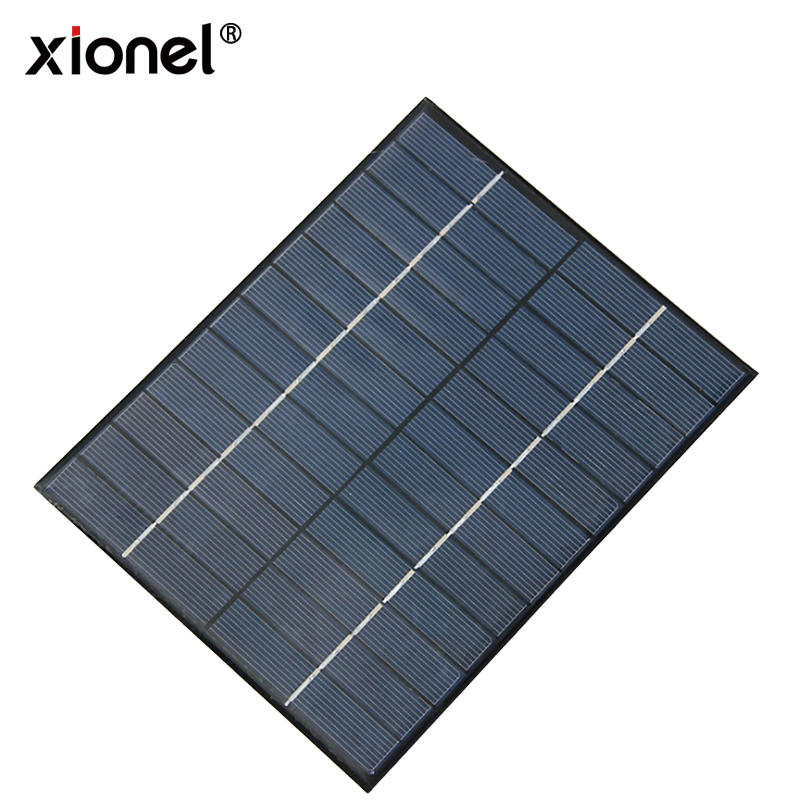 Xionel 5.2W 12V Mini Solar Panel Module Solar System kits Solar Epoxy Cells Charger DIY 210x165mm