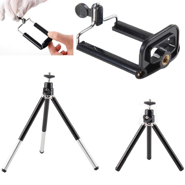 Universal 12X Zoom Clip Telephoto Manual Focus Telescope Camera Phone Lens with Tripod + Holder for iPhone Samsung HTC  12X3in1 2