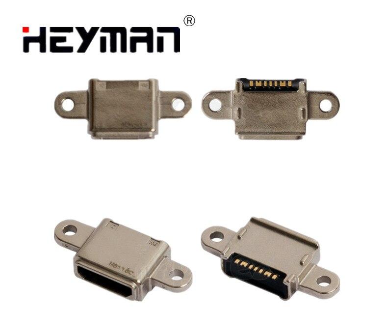 Heyman-conector de carga para Samsung Galaxy S7 EDGE G930F,G935F, piezas de repuesto para teléfonos móviles (7 pines, micro USB tipo B)