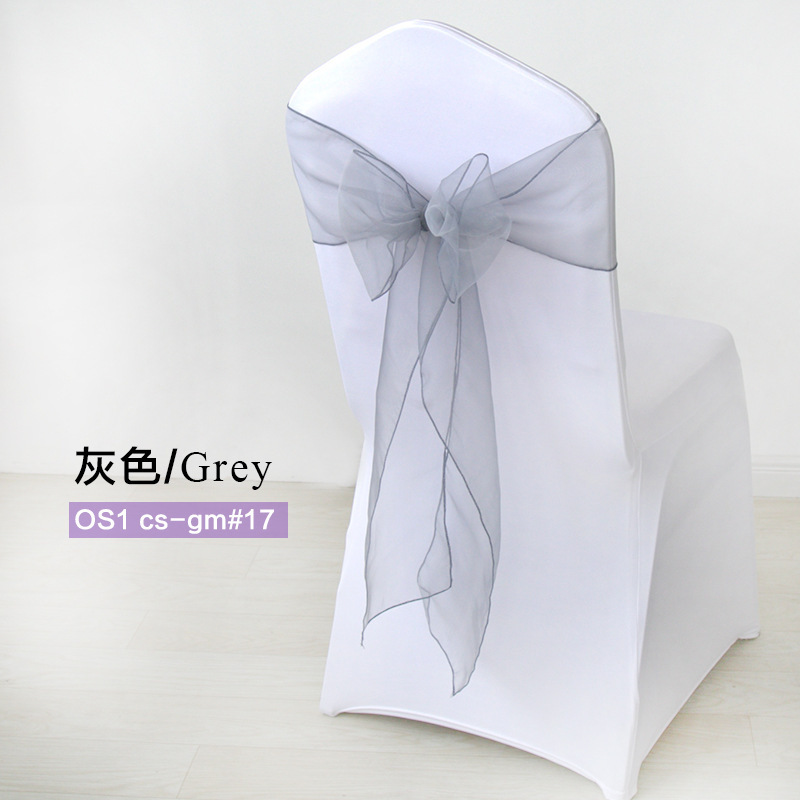 100Pcs/set High Quality Organza Fabric Wedding Chair Knot Sashes Cover Chairs Bow Band Belt Ties For Wedding Banquet Decoration