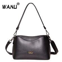 WANU Мода большой емкости женские кожаные сумки с кисточками на плечо через плечо сумки-мессенджеры женские сумки Хобо дамы