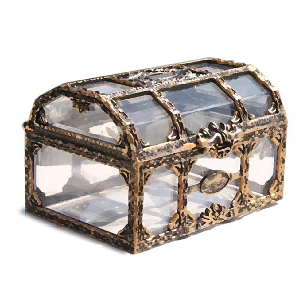 Пиратский дизайн, коробка для хранения монет, сундук с сокровищами, металлические замковые украшения, красивые Чехлы, орнамент, коробка для хранения, модный держатель