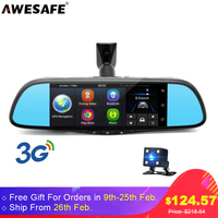AWESAFE Special 3G Car Rearview Mirror DVR Camera 7 Android GPS Navigation FHD 1080P Video Recorder