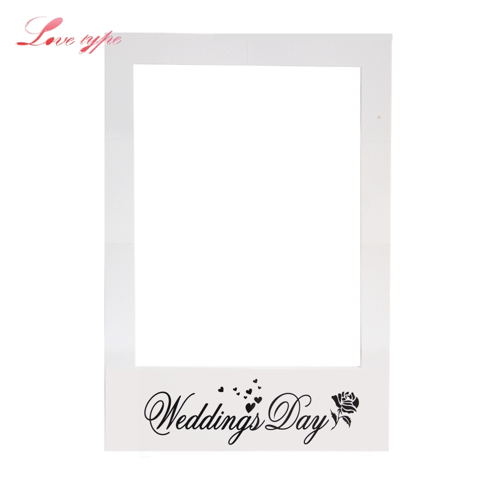 1PC Romantic Wedding Photo Frame Photo Props Creative Photo Booth ...