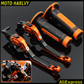 "7/8"" 22mm Motorcycle Hand Grips Handle Rubber Bar Gel Grip + Brake Clutch Lever Modified Accessory for KTM Duke 125/200/250/390"