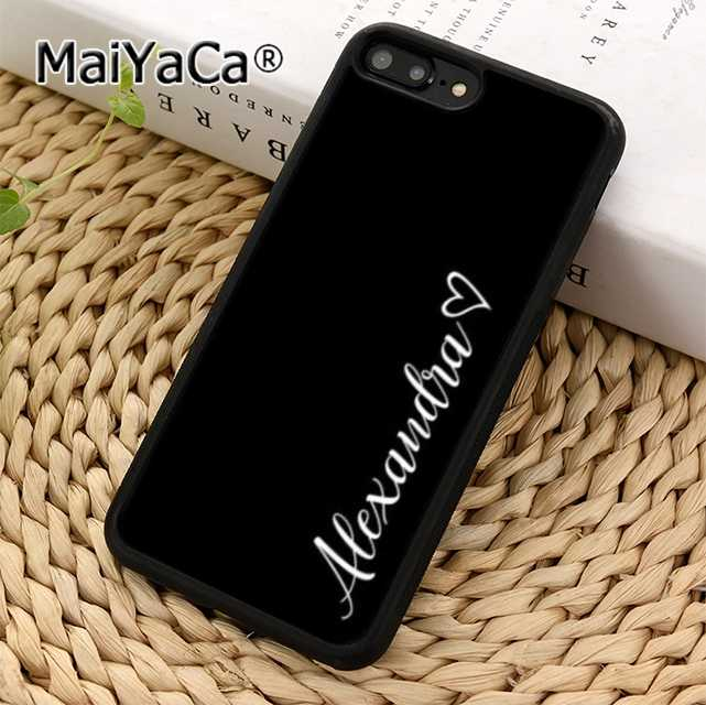 NOME PERSONALIZADO CUSTOM TEXT MaiYaCa Phone Case Capa Para iPhone 5 5S 6 6 s 7 8 X XR XS max Samsung Galaxy S6 S7 borda S8 S9 plus