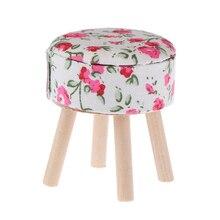 1/12 миниатюрная мебель для кукольного домика, круглый цветочный стул, АКК для кукол, домашний декор, детская игрушка для ролевых игр