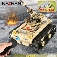 Nashan Motors Drive Rechargeable RC Car Bricks Technic Building Blocks Remote Control Car Boys Educational Toys For Children