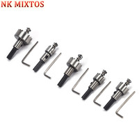 NK MIXTOS 5pcs 16 30mm HSS Drill Bit Hole Saw Tooth Cutter Set Steel Wood Metal