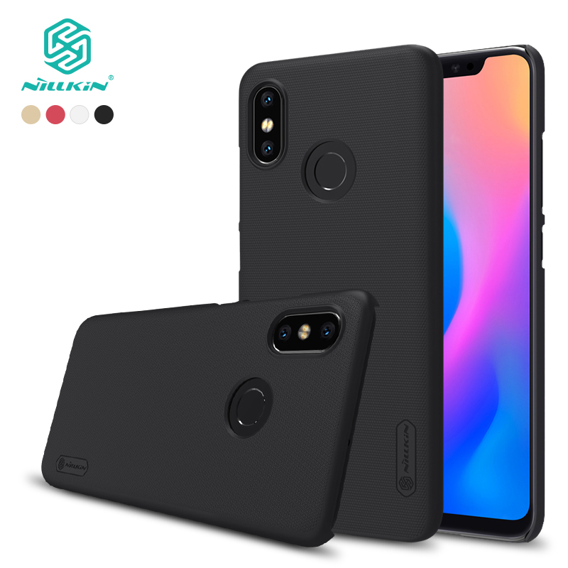 For xiaomi mi 8 case cover 6.21 inch NILLKIN Frosted PC Matte hard back cover Gift Phone Holder for xiaomi 8 case for mi8