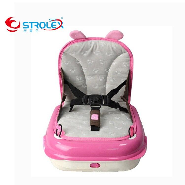 Deftig Draagbare Plastic Multifunctionele Kindje Eetkamerstoel Auto Mama Tas Baby Speelgoed Doos Hoogte Pad Snelle Warmteafvoer