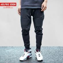 Aelfric Eden G-DRAGON Joggers Sweatpants Pleated Simple Men Pants Feet Black Trousers Man Cotton Harem Pants Cozy Casual Pants