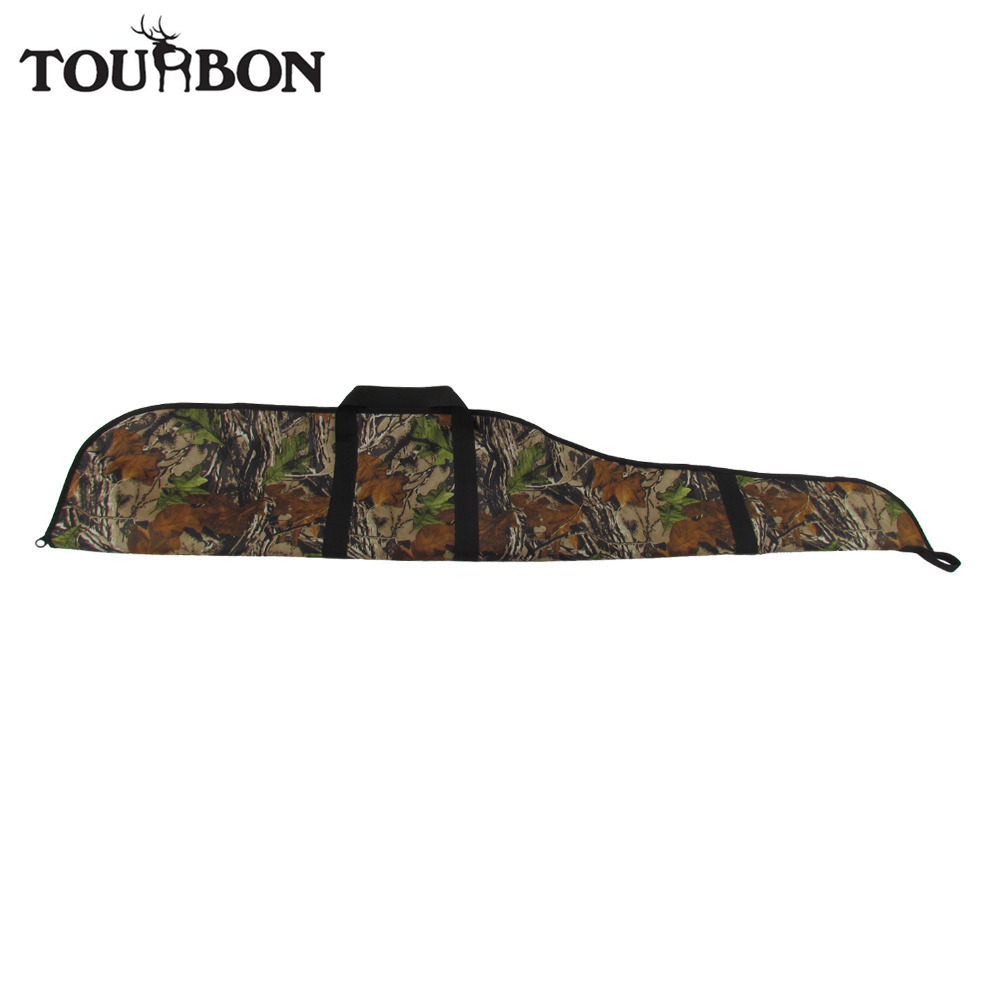 Tourbon Hunting Tactical Sniper Scoped Rifle Case Optics Shotgun Slip Gun Bag Camo 600D Nylon Zipper Closure 142CM лайтбокс шишкин утро в сосновом лесу 35x35 152