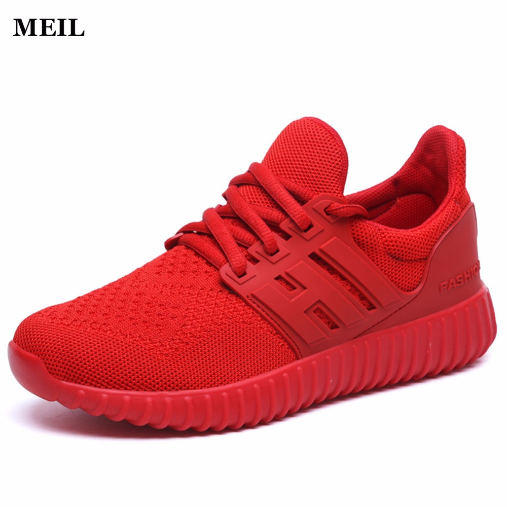 Hommes Air Mesh Chaussures de Sport Tenis Feminino PU En Cuir Solide Plat Confortable Respirant Superstar Formateurs Zapatillas Hombre