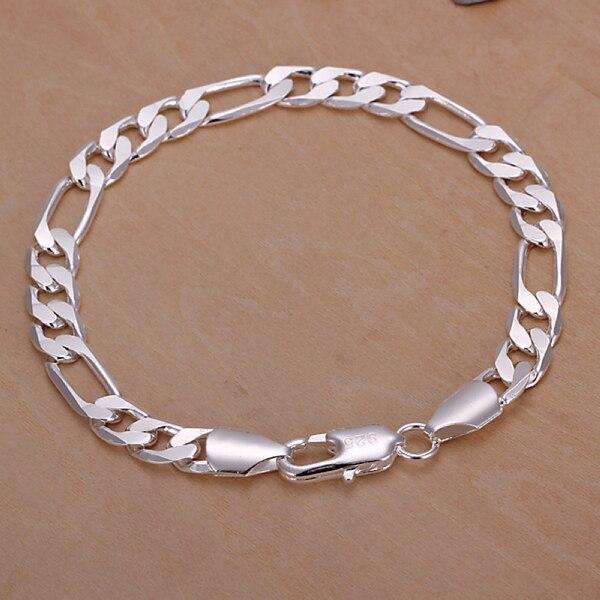 c7751e9789ce Moda 925 joyas de plata 925-sterling-silver pulseras para mujeres pulseras  y brazaletes