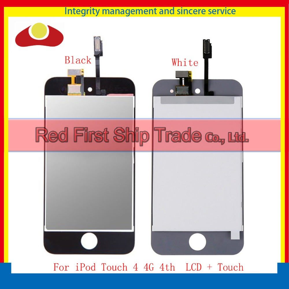 High Quality For Ipod Touch 4 4G 4th Full Lcd Display Touch Screen Digitizer Sensor Assembly Complete White Black Free shipping high quality for iphone 4 4g 4s full lcd display touch screen digitizer sensor assembly complete with frame bezel white black
