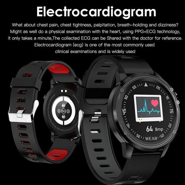 Reloj inteligente L8 IP68 para Hombre, Reloj inteligente resistente al agua con ECG presión arterial mediante PPG, relojes deportivos para fitness 1